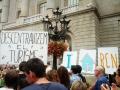 Pancartas frente al ayuntamiento